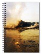 Cold Morning Sunrise At Grand Prismatic Spring Spiral Notebook