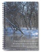 Cold-snow Spiral Notebook