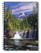 Cold Water Falls Spiral Notebook