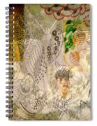 Collage 23 Faces Spiral Notebook
