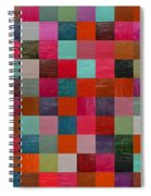 Collage Color Study Fuchsia Spiral Notebook