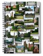 Collage Cornell University Ithaca New York Vertical 02 Spiral Notebook