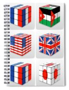 Collage Of Flags Of Different Nation  Spiral Notebook