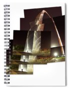 Collage Of Gateway Arch At Night Spiral Notebook