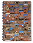 Collage Roof And Windows - The City S Eyes Spiral Notebook