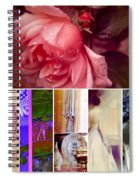 Collage So Rosey Spiral Notebook