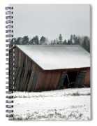 Collapsing Barn Spiral Notebook