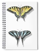 Collection Of Two Butterflies Spiral Notebook