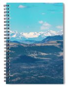 Collegiate Peaks From Little Grouse Mountain Spiral Notebook