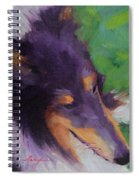 Collie Girl Siena Spiral Notebook