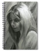 Portrait Of Woman In Charcoal Spiral Notebook