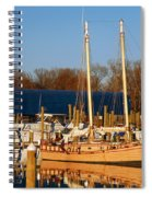 Colonial Beach Docks Spiral Notebook