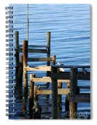 Colonial Beach Pilings Spiral Notebook