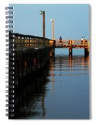 Colonial Beach Town Pier Spiral Notebook