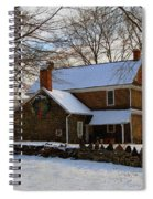 Colonial Christmas Spiral Notebook