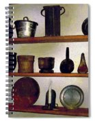 Colonial Cook's Cupboard Spiral Notebook