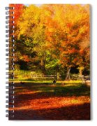 Colonial Fall Colors Spiral Notebook