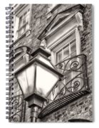 Colonial Lamp And Window Bw Spiral Notebook
