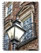 Colonial Lamp And Window Spiral Notebook
