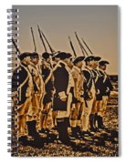 Colonial Soldiers On Parade Spiral Notebook