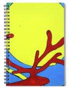 Color Animal Moon Street Art Spiral Notebook