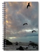 Color Burst Sunset Spiral Notebook