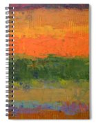 Color Collage Four Spiral Notebook