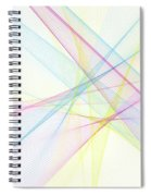 Color Computer Graphic Line Pattern Spiral Notebook