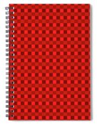 Color Dots On Red Drawing Abstract #7 Spiral Notebook