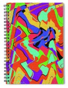 Color Drawing Abstract #3 Spiral Notebook