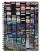 Color Grid - Gold Line Spiral Notebook