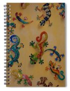 Color Lizards On The Wall Spiral Notebook