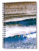 Color Movement-blue And Beige Spiral Notebook