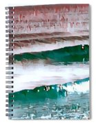 Color Movement-turquoise And Red Spiral Notebook