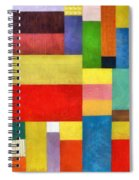 Color Panel Abstract With White Buttons Spiral Notebook