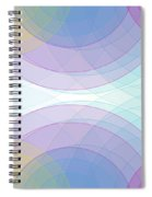 Color Semi Circle Background Horizontal Spiral Notebook