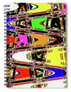 Color Wave Abstract Spiral Notebook