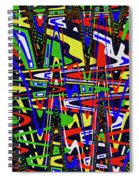 Color Works Abstract Spiral Notebook