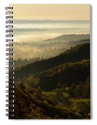 Colorado And Manitou Springs Valley In Fog Spiral Notebook