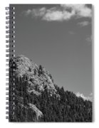 Colorado Buffalo Rock With Waxing Crescent Moon In Bw Spiral Notebook