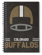 Colorado Buffalos Vintage Football Art Spiral Notebook