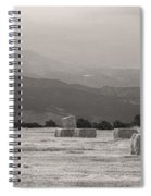 Colorado Farming Panorama View In Black And White Spiral Notebook