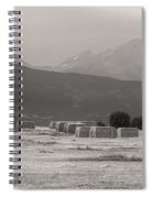 Colorado Farming Panorama View In Black And White Pt 1 Spiral Notebook