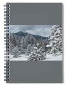 Colorado Foothills Winter Panorama Spiral Notebook