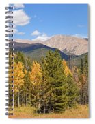 Colorado Rockies National Park Fall Foliage Panorama Spiral Notebook