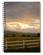 Colorado Rocky Mountain Country Sunset Spiral Notebook