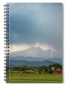 Colorado Rocky Mountain Red Barn Country Storm Spiral Notebook