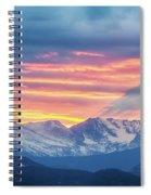 Colorado Rocky Mountain Sunset Waves Of Light Part 1 Spiral Notebook