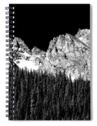 Colorado Rocky Mountains Indian Peaks Fine Art Bw Print Spiral Notebook