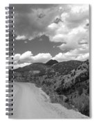 Colorado Shelf Road 1 B-w Spiral Notebook